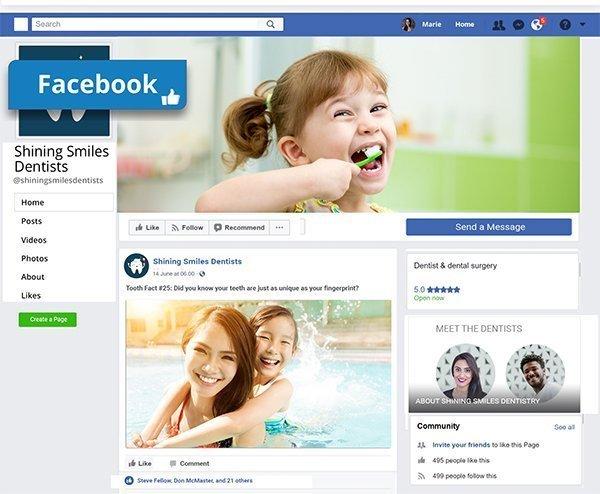 Social Media Page Build facebook
